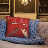 Blunt Broads | accent pillow