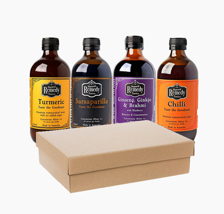 Natural Remedy Tonics - Four bottle gift pack
