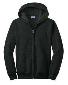 Gildan Youth Heavy Blend Full-Zip Hooded Sweatshirt. 18600B