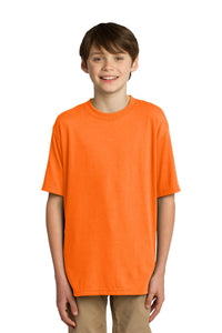 CLOSEOUT JERZEES Youth Sport 100% Polyester T-Shirt. 21B