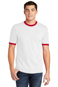 American Apparel  Fine Jersey Ringer T-Shirt. 2410W