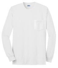 Load image into Gallery viewer, Gildan - Ultra Cotton 100% Cotton Long Sleeve T-Shirt with Pocket.  2410