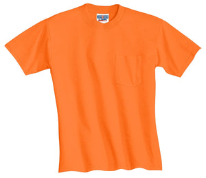 JERZEES -  Dri-Power 50/50 Cotton/Poly Pocket T-Shirt.  29MP