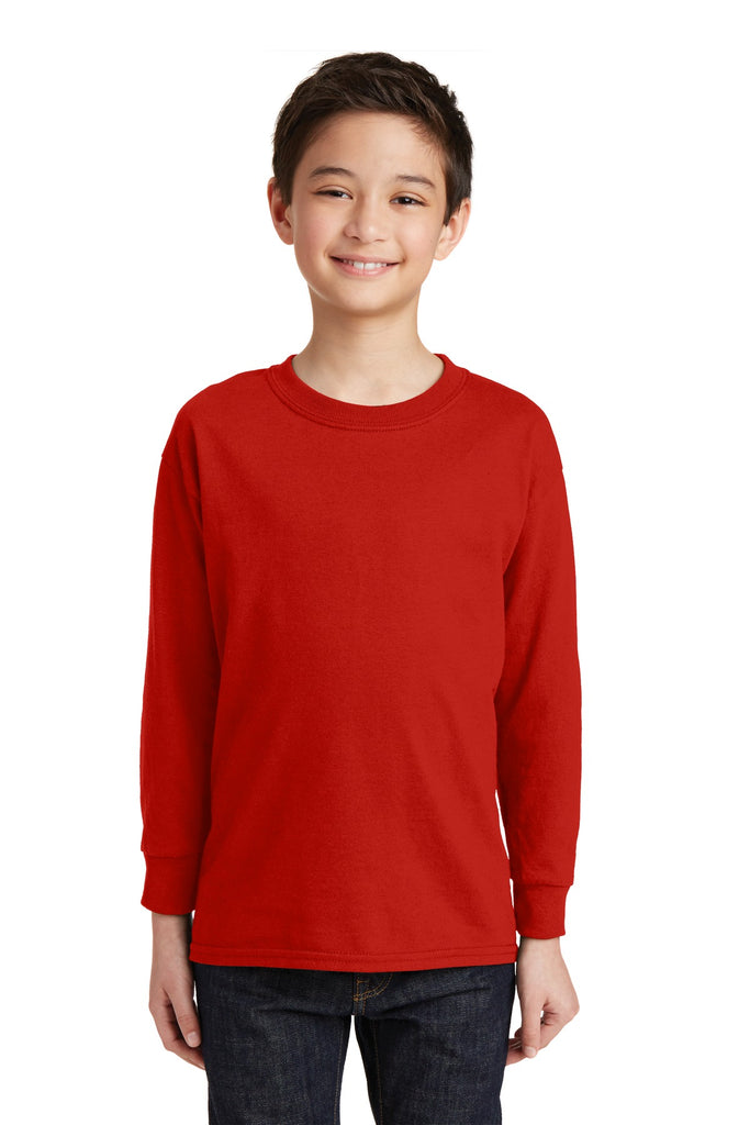 Gildan® Youth Heavy Cotton™ 100% Cotton Long Sleeve T-Shirt. 5400B