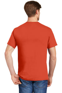 Hanes - Tagless 100%  Cotton T-Shirt with Pocket.  5590