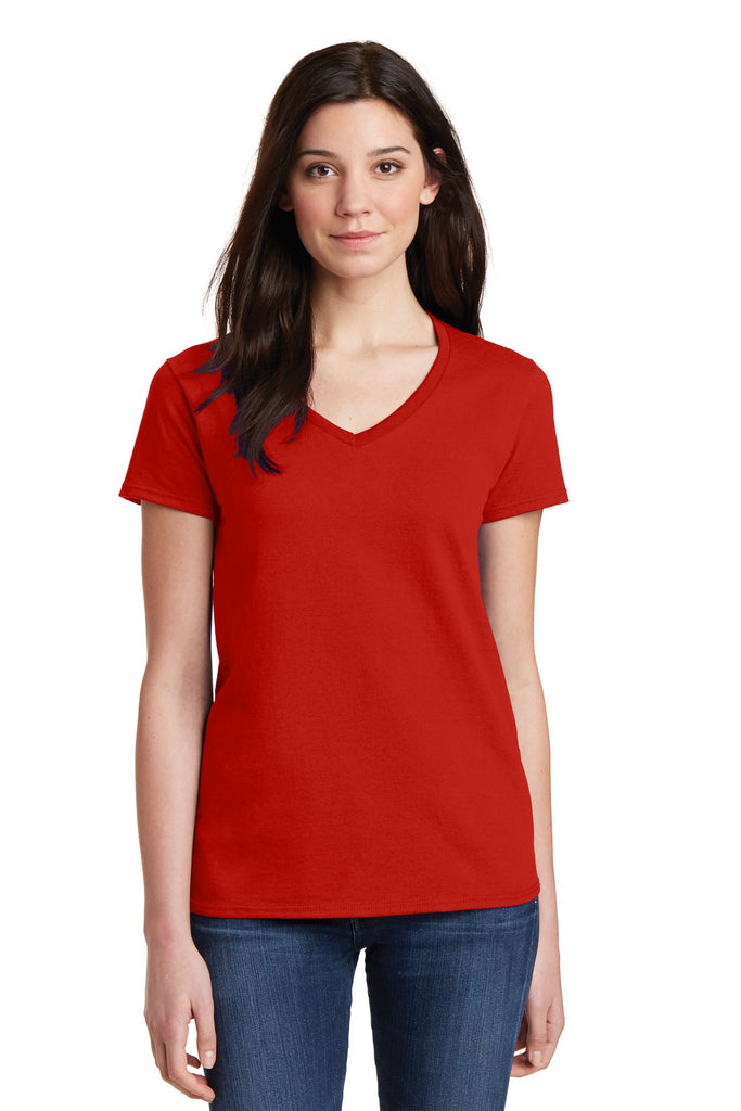Gildan® Ladies Heavy Cotton™ 100% Cotton V-Neck T-Shirt. 5V00L