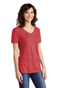JERZEES  Ladies Snow Heather Jersey V-Neck T-Shirt 88WV
