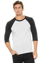 Load image into Gallery viewer, BELLA+CANVAS  Unisex 3/4-Sleeve Baseball Tee. BC3200