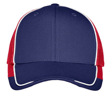 Load image into Gallery viewer, Port Authority Colorblock Mesh Back Cap. C904