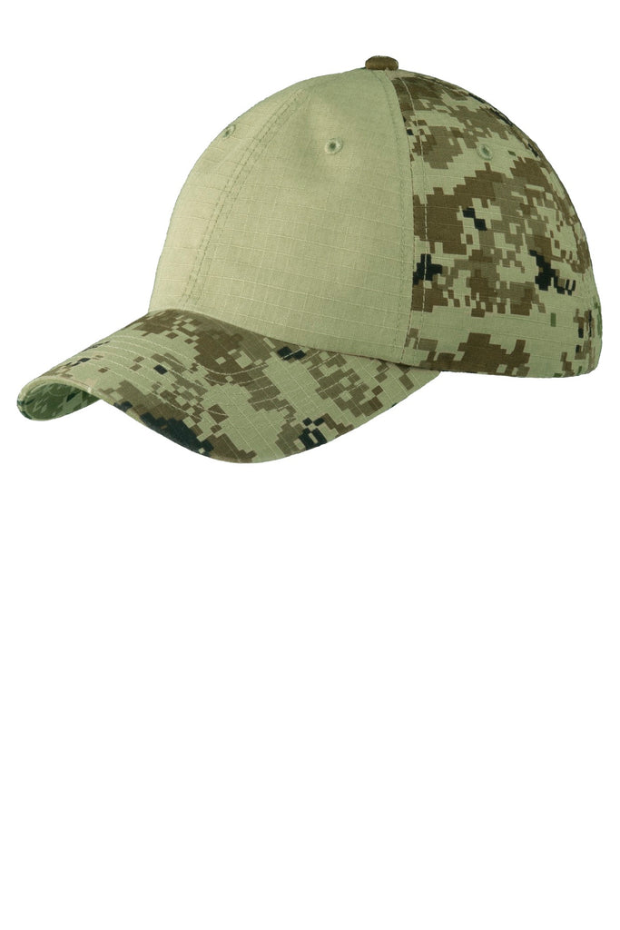 Port Authority® Colorblock Digital Ripstop Camouflage Cap. C926