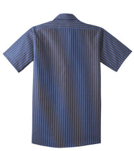 Load image into Gallery viewer, Red Kap Short Sleeve Striped Industrial Work Shirt.  CS20