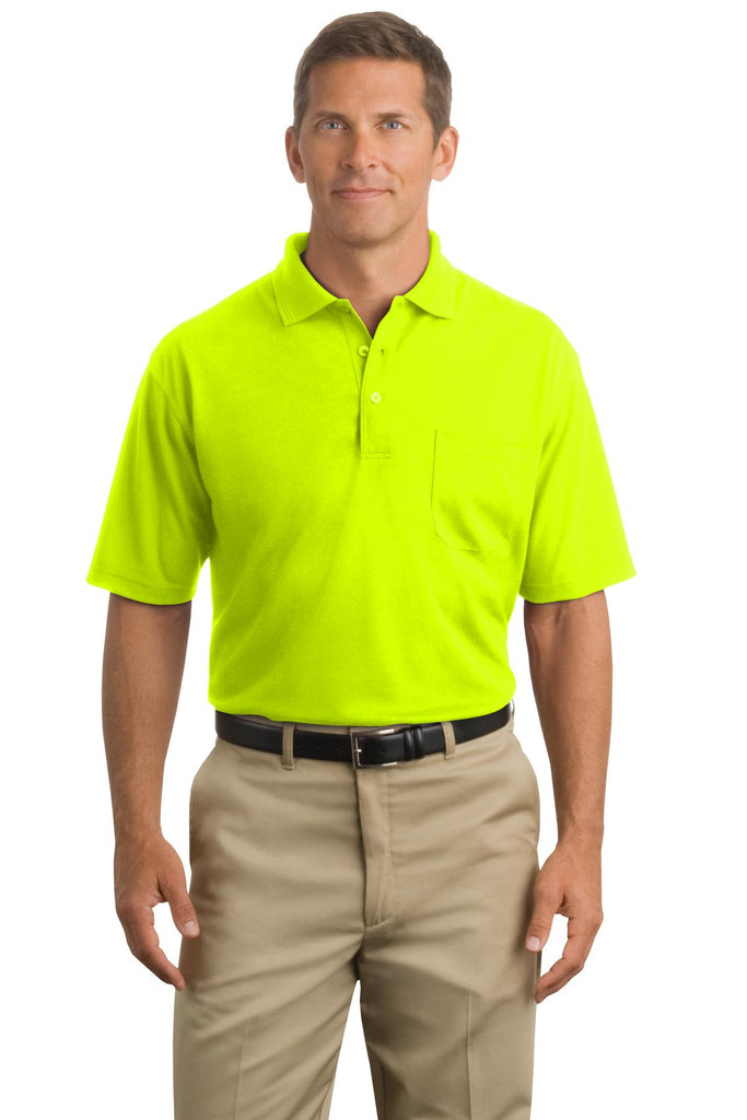 CornerStone® - Industrial Pocket Pique Polo. CS402P