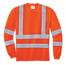 Load image into Gallery viewer, CornerStone - ANSI 107 Class 3 Long Sleeve Snag-Resistant Reflective T-Shirt. CS409