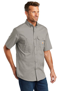 Carhartt Force  Ridgefield Solid Short Sleeve Shirt. CT102417