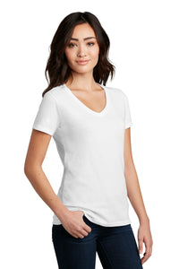 District Women's Perfect Blend V-Neck Tee. DM1190L