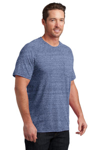 CLOSEOUT District Made Mens Tri-Blend Pocket Tee. DM340