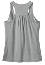 Load image into Gallery viewer, CLOSEOUT District Made - Ladies Mini Stripe Gathered Racerback Tank. DM421