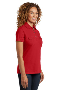 CLOSEOUT District Made Ladies Double Pocket Polo. DM433