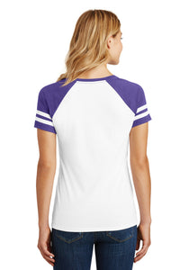 District  Women's Game V-Neck Tee. DM476