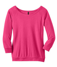 Load image into Gallery viewer, CLOSEOUT District Made - Ladies Modal Blend 3/4-Sleeve Raglan DM482