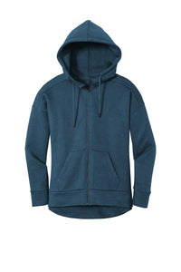 District  Women's Perfect Weight  Fleece Drop Shoulder Full-Zip Hoodie DT1104