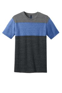 CLOSEOUT District Young Mens Tri-Blend Pieced Crewneck Tee. DT143