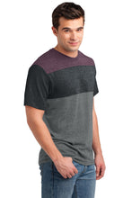 Load image into Gallery viewer, CLOSEOUT District Young Mens Tri-Blend Pieced Crewneck Tee. DT143