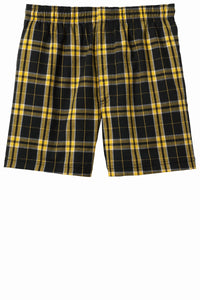 CLOSEOUT District - Young Mens Flannel Plaid Boxer. DT1801