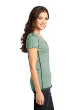 Load image into Gallery viewer, CLOSEOUT District - Juniors Faded Rounded Deep V-Neck Tee. DT2202