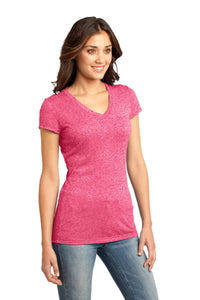 CLOSEOUT District - Juniors Microburn V-Neck Tee. DT261