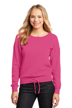 Load image into Gallery viewer, CLOSEOUT District - Juniors Core Fleece Wide Neck Pullover. DT293