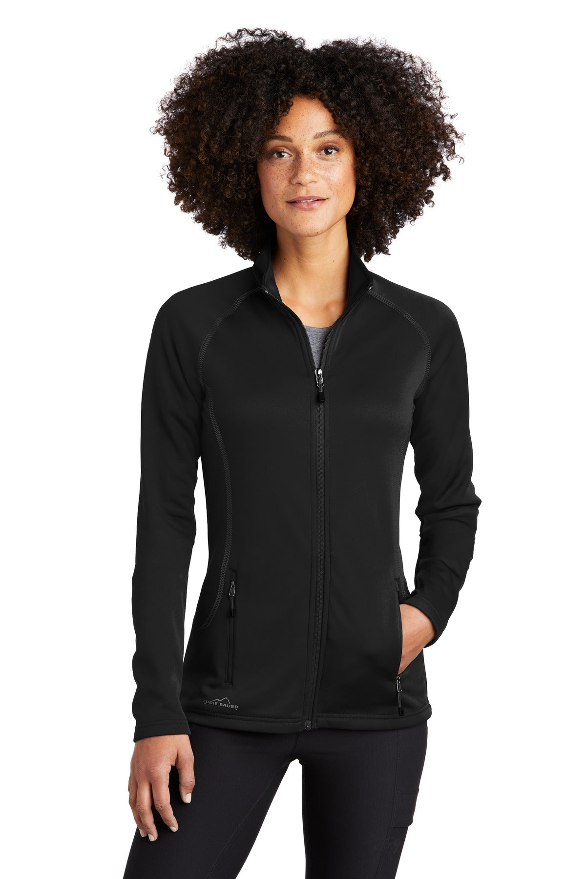 Eddie Bauer  Ladies Smooth Fleece Base Layer Full-Zip. EB247