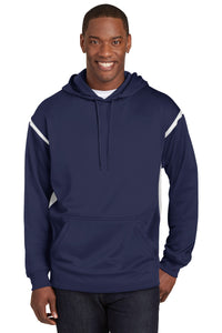 Sport-Tek Tech Fleece Colorblock Hooded Sweatshirt. F246