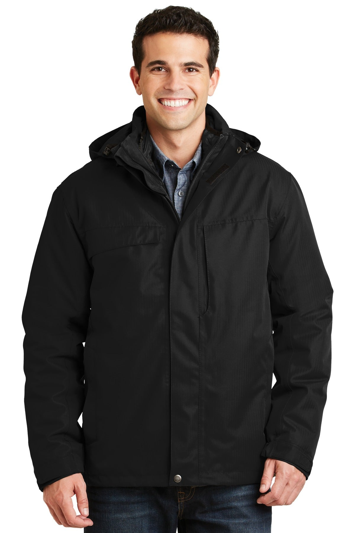 Port Authority Herringbone 3-in-1 Parka. J302