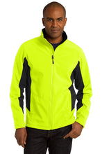 Load image into Gallery viewer, Port Authority Core Colorblock Soft Shell Jacket. J318
