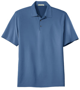 CLOSEOUT Port Authority Poly-Charcoal Birdseye Jacquard Polo. K498