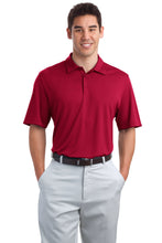 Load image into Gallery viewer, CLOSEOUT Port Authority Poly-Charcoal Birdseye Jacquard Polo. K498