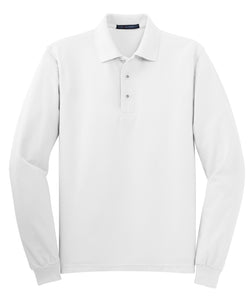 Port Authority Silk Touch Long Sleeve Polo.  K500LS