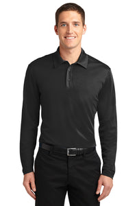 Port Authority Silk Touch Performance Long Sleeve Polo. K540LS