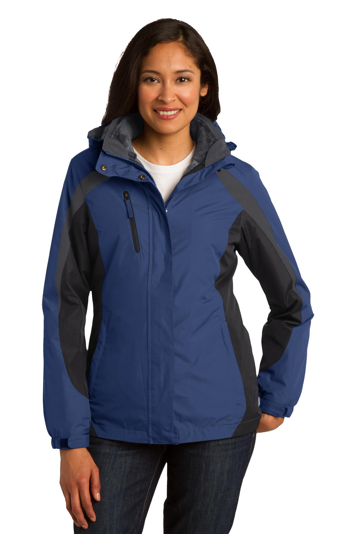 Port Authority Ladies Colorblock 3-in-1 Jacket. L321