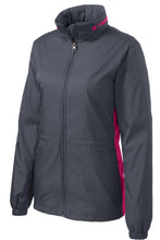 Load image into Gallery viewer, Port Authority Ladies Core Colorblock Wind Jacket. L330