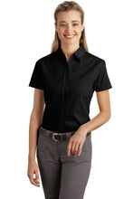 Load image into Gallery viewer, CLOSEOUT Port Authority Ladies Short Sleeve Easy Care  Soil Resistant Shirt.  L507