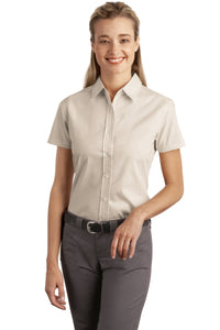 CLOSEOUT Port Authority Ladies Short Sleeve Easy Care  Soil Resistant Shirt.  L507