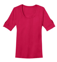 Load image into Gallery viewer, CLOSEOUT Port Authority Ladies Concept Scoop Neck Shirt. L541