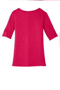 CLOSEOUT Port Authority Ladies Concept Scoop Neck Shirt. L541