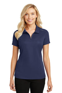 Port Authority Ladies Pinpoint Mesh Zip Polo. L580