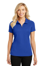 Load image into Gallery viewer, Port Authority Ladies Pinpoint Mesh Zip Polo. L580