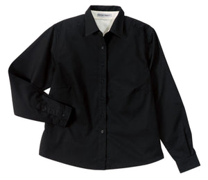 CLOSEOUT Port Authority Maternity Long Sleeve Easy Care Shirt.  L608M