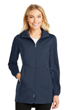 Load image into Gallery viewer, Port Authority Ladies Active Hooded Soft Shell Jacket. L719
