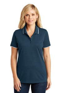 Port Authority Ladies Dry Zone UV Micro-Mesh Tipped Polo. LK111